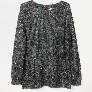 NWT 5/48 Sequins Tweed Oversized  Knit Sweater